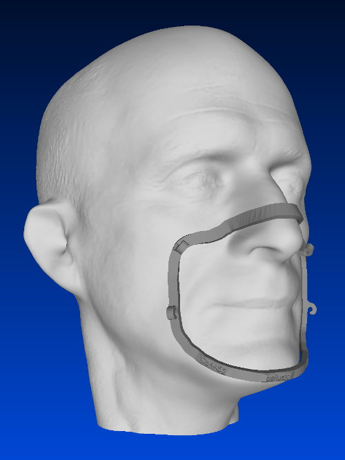 3D model with Mask Fitter